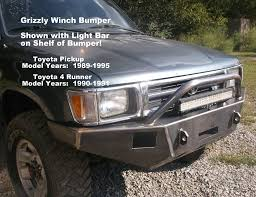 100 Grizzly Trucks 19901991 Toyota 4 Runner Custom Front Winch Plate Bumper Custom