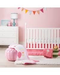 bargains on 4pc crib bedding set balloon ride circo