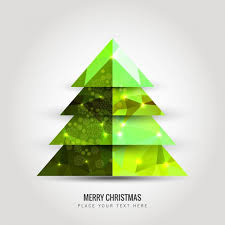 Bright Green Christmas Tree Free Vector