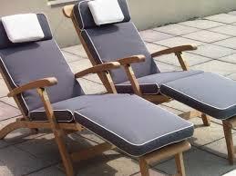 luxury dove grey steamer chair cushion 176x46cm