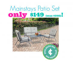 Walmart Patio Tables Only by Mainstays Zahara 4 Piece Folding Patio Conversation Set Only 149