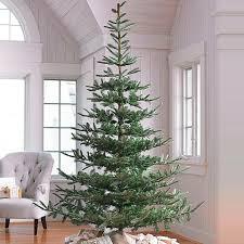 Lit Led Flocked Balsam Artificial Tree Fake Pre Christmas Trees Xmas