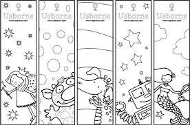 Coloring Sheets Kids On Usborne Bookmarks And Bookplates To Print Out Colour