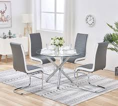 Stylish Clear Glass Table And 4 Chairs Set Grey&White Side PU ... Regal Fniture How To Plan Your Wedding Reception Layout Brides Syang Philippines Price List For Usd 250 Simple Negoation Table And Chair Combination Office Chair Conference Table And Chairs Admirable Round Ikea Business Event Seating Arrangements Whats The Best Your Event Seating Setting Events Budapest Party Service Tables Chairs Negotiate A Square Four Indoor Flowers Stock Photo Edit Now