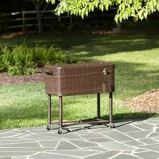 Ty Pennington Patio Furniture by Ty Pennington Style Parkside 80qt Wicker Patio Cooler Outdoor