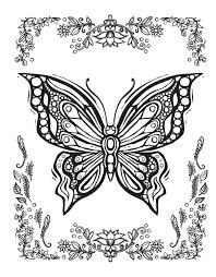Coloring Pages Of Butterflies For Adults 2160 Best Images On Pinterest