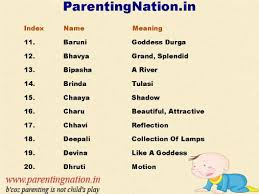 ParentingNationin Provides Hindu Baby Girl Names With Meaning That