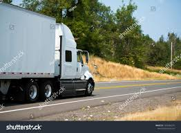 100 Aerodynamic Semi Truck Big Rig White Dry Stock Photo Edit Now 1252463275