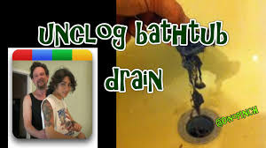 Best Way To Open Clogged Kitchen Sink by Easy Unclog Bathtub Drain Youtube