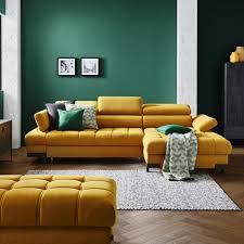 wohnlandschaft in textil gelb kaufen xxxlutz