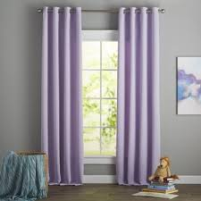 Purple Ruffle Curtain Panel by Purple Curtains U0026 Drapes You U0027ll Love Wayfair