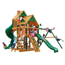Gorilla Playsets Great Skye I With Timber Shield And Deluxe Green ... Amazoncom Backyard Discovery Capitol Peak All Cedar Wood Playset Srtspower Jump N Swing Set W Trampoline Skyfort Ii Wooden Playsets 7 Best The Best Sets Images On Pinterest A Rock Small Shop Vinyl Swingsets With Free Shipping Guys Kings Gemini Diy Fort Swingset Plans Jacks Kids Playground Swings Slides Toys Adventure Play 9play Metal Wander Montpelier
