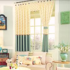 Living Room Curtain Ideas For Bay Windows by Polk Dots For Bay Window Curtains Ideas For Kids