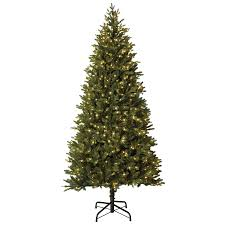 Holiday Living 75 Ft Pre Lit MontaSpruce Slim Artificial Christmas Tree With 800 Constant