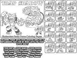 Printable Coloring Page For Kids With Skylanders Swap Force TRAP SHADOW And All The Different Skylander