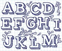 Typeface Clipart Letter Style 1