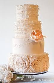 BRITTANY Minimalist Chic White Wedding Cake