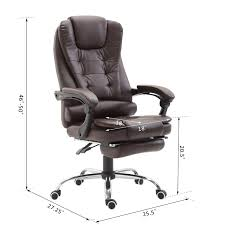 HOMCOM High Back Reclining PU Leather Executive Office Chair With Footrest  (Dark Brown) Replica Charles Ray Eames Pu Leather High Back Executive Office Chair Black Stanton Mulfunction By Bush Business Fniture Merax Ergonomic Gaming Adjustable Swivel Grey Sally Chairs Guide How To Buy A Desk Top 10 Soft Pad Annaghmore Fduk Best Price Guarantee We Will Beat Our Competitors Give Our Sales Team A Call On 0116 235 77 86 And We Wake Forest Enthusiast Songmics With Durable Stable Height Obg22buk Rockford Style Premium Brushed Alinium Frame