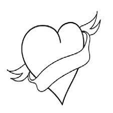 Broken Hearts Colouring Pages