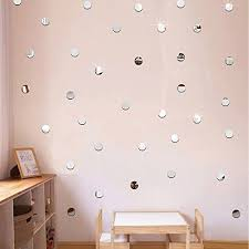 Silver Bling Dots 200pcs 2cm DIY 3D Acrylic Wall Sticker Mirror Effect Stickers Mural Childrens Room Ceiling Bedroom Decor Decals Adesivo De Parede