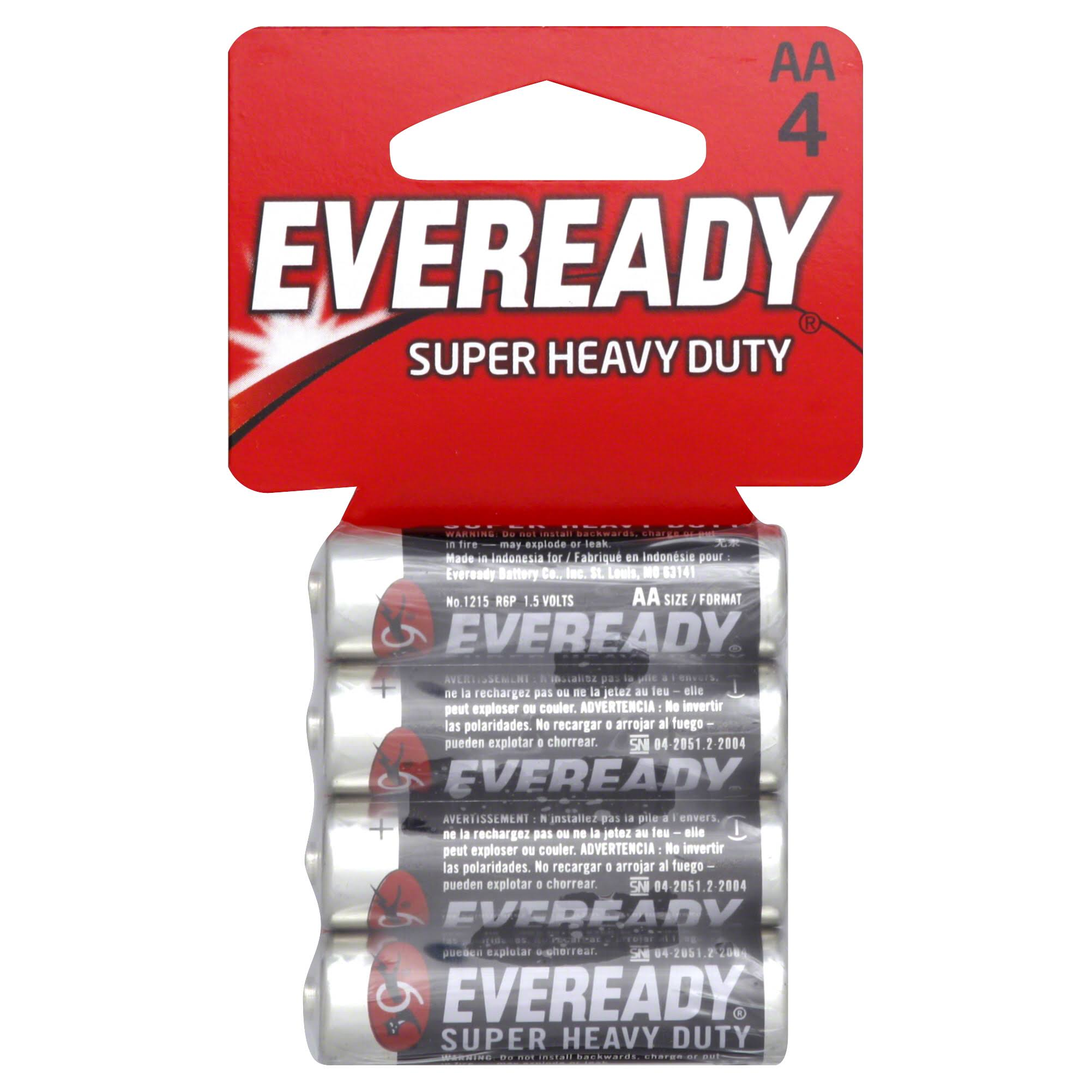 Eveready Super Heavy-Duty AA Batteries - 4 Pack