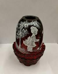 Fenton Blue Fairy Lamp by Glassware