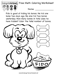 Free Printable Colouring Worksheets For Kindergarten