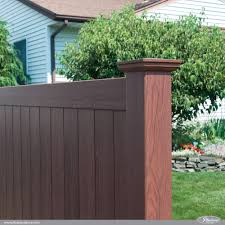Rosewood Wood Grain Illusions PVC Vinyl Privacy Fence   Vinyls ... 20 Awesome Small Backyard Ideas Backyard Design Entertaing Privacy Fence Before After This Nest Is Fniture Magnificent Lawn Garden Best 25 Privacy Ideas On Pinterest Trees Breathtaking Designs And Styles Pergola Fencing For Yards Gate Design By 7 Tall Cedar Fence With 6x6 Posts 2x6 Top Cap 6 Vinyl Fencing Provides Safety And Security Without Fences Hedges To Plant Fastgrowing Elegant