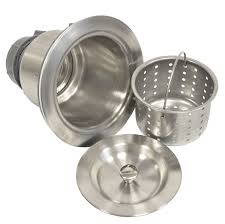 Ceco Stainless Steel Sinks by Coflex Extra Deep Cup Sink Basket Strainer With Sealing Lid 304