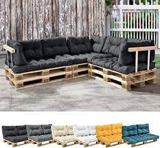 en casa 1x sitzkissen für paletten sofa dunkelgrau palettenkissen auflage in outdoor polster möbel