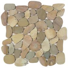 mosaic tile usa bati orient pebble interlocking mix golden matte