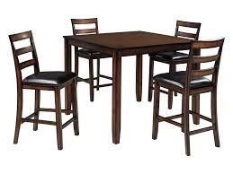 Coviar Burnished Brown 5-Piece Dining Room Counter Table Set By Signature  Design By Ashley At John V Schultz Furniture