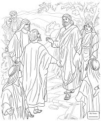 Peter Walks On The Water Christianity Bible Coloring Pages For Kids