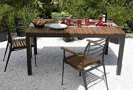 stunning table de jardin en bois et metal gallery awesome