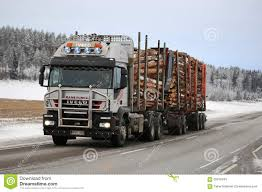 100 Iveco Truck Trakker 500 Logging Hauls Timber Editorial Stock Photo