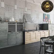 moderne loft küche damiana premium massivholzküche grau eiche