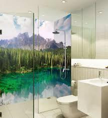 fototapeten 3d palmen tapete badezimmer drucken abziehbild
