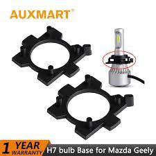 auxmart h7 bulb holder adapters for mazda 3 mitsubishi outlander