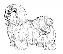 Standing Dog Christmas Coloring Pages