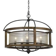 Wayfair Chandelier Lamp Shades by Cal Lighting Mission 5 Light Drum Chandelier Decor U0026 Furnishings