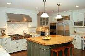 White Kitchen Island With Butcher Block Top Or Country