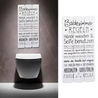 plankenschild wandbild badezimmer regel