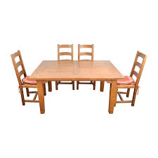 Crate And Barrel Dining Table Chairs by 35 Off Wholesale Interiors Brown Dining Table Set With Four