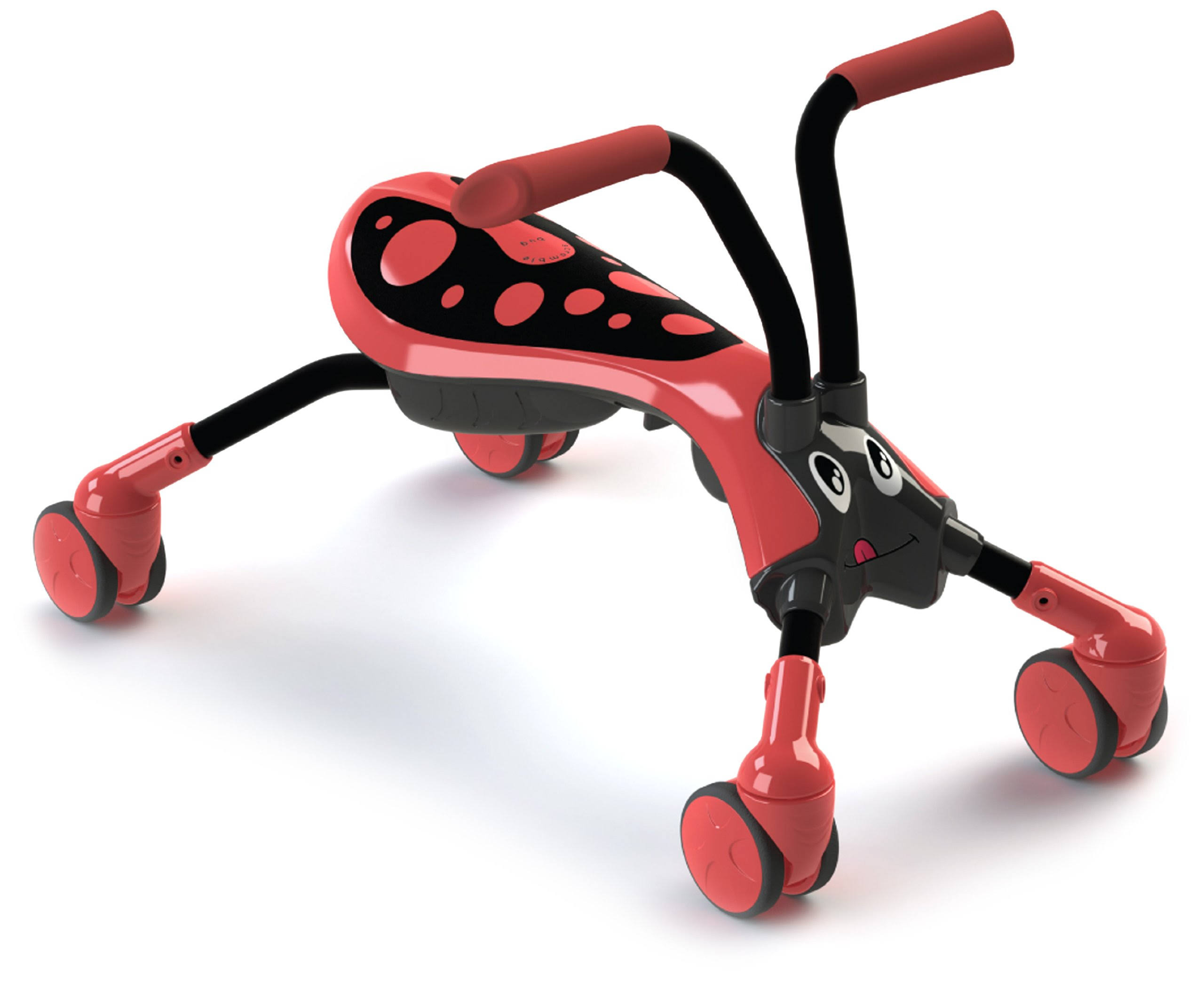 Scramblebug Toddler Ride-On - Red & Black