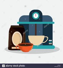 Coffee Espresso Machine And Set Porcelain Cup With Packaking Of