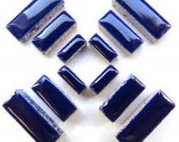 indigo blue tile etsy