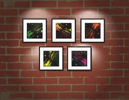 Download Vector Frame On Brick Wall Art Gallery Stock