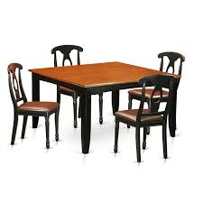 Shop Black/Cherry Finish Rubberwood Dining Table With 4 Dining ... Shop Valencia Black Cherry Ding Chairs Set Of 2 Free Shipping Chair Upholstered Table Ding Set Sets Living Dlu820bchrta2 Arrowback Antique And Luxury Mattress Fniture Dover Round Table Md Burlington Blackcherry With Brookline With Indoor Teak Intertional Concepts Extendable Butterfly Leaf Amazoncom East West Nicblkw Wood Addison Room Collection From Coaster X Back C46 Homelegance Blossomwood 0454