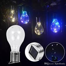 2018 solar rotatable led light bulbs outdoor waterproof garden