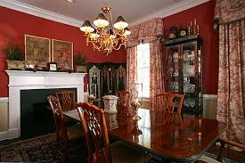Stunning Design Ideas Red Dining Room Curtains For Unique Traditional Decorations